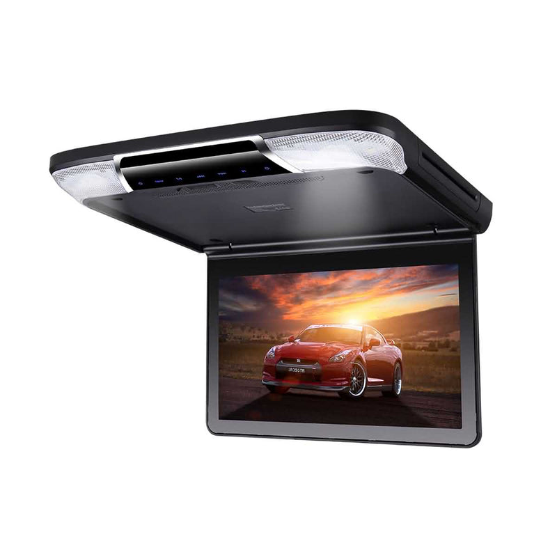 11.6 inch Car Overhead DVD Player, 1366x768 Flip down Digital TFT LCD Screen, Auto HDMI input Roof mount Multimedia Player System - foyotech