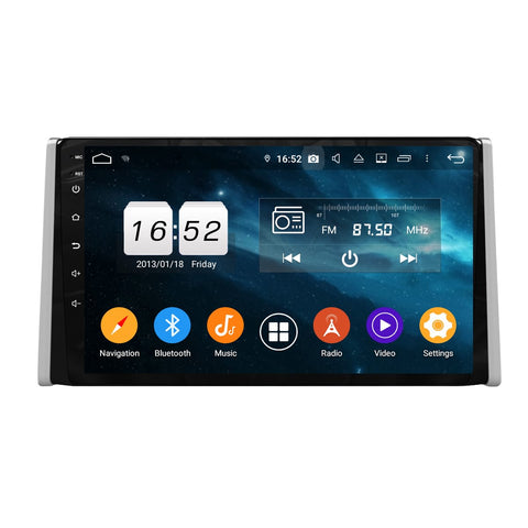 9 Inch Touchscreen Android 9.0 Car Stereo for Toyota RAV4(2019-2020), GPS Navigation DSP Radio Bluetooth 4G WIFI Head Unit, 4GB RAM+32GB ROM - foyotech