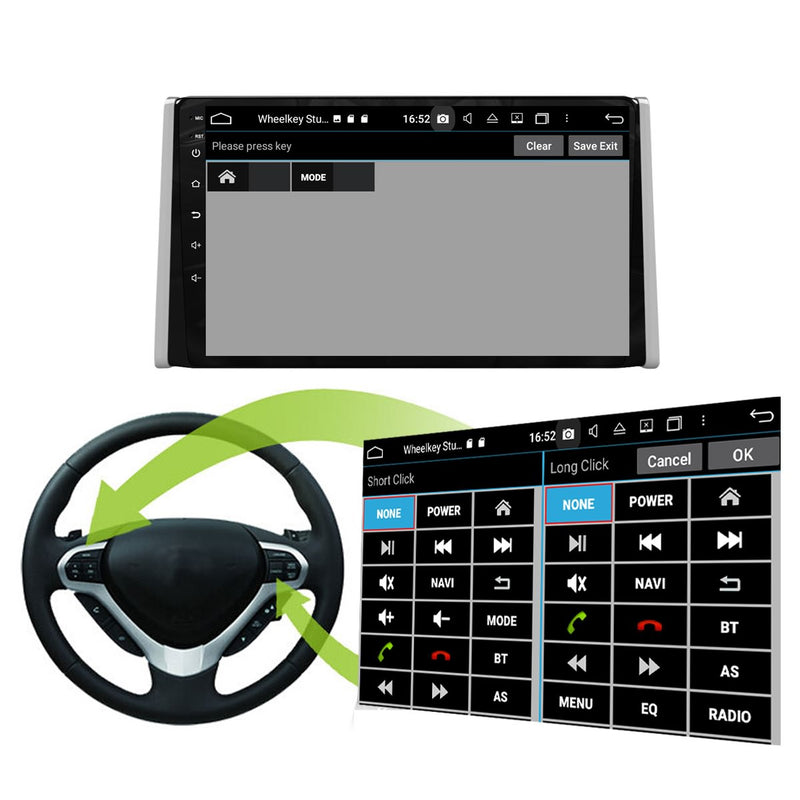Android 10 Single Din 9 Inch Autoradio Headunit for Toyota RAV4 2019 2020, Octa Core 1.5GB CPU 32GB Flash 4GB DDR3 RAM, Auto Stereo GPS Navigation 3G 4G WIFI Bluetooth USB DSP Carplay&Auto Steering Wheel Control. 1Din Vehicle Touch Screen Multimedia Video Player System Head Unit.