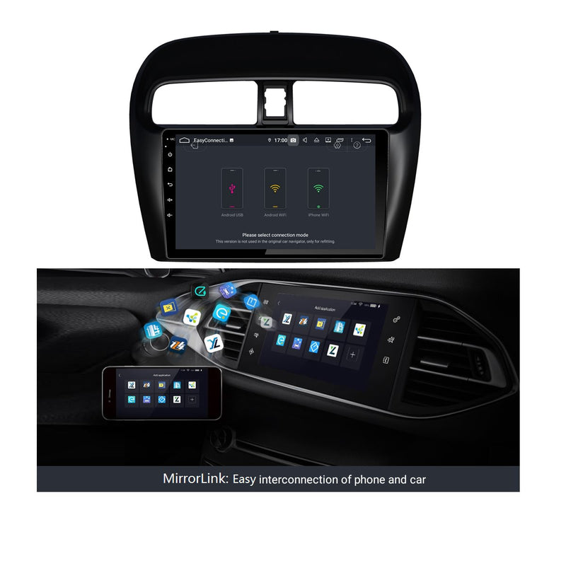 9 Inch Touchscreen Android 9.0 Car Radio for Mitsubishi Attrage Mirage(2012-2020), 4GB RAM+32GB ROM, GPS Navigation DSP Stereo Bluetooth 4G WIFI - foyotech