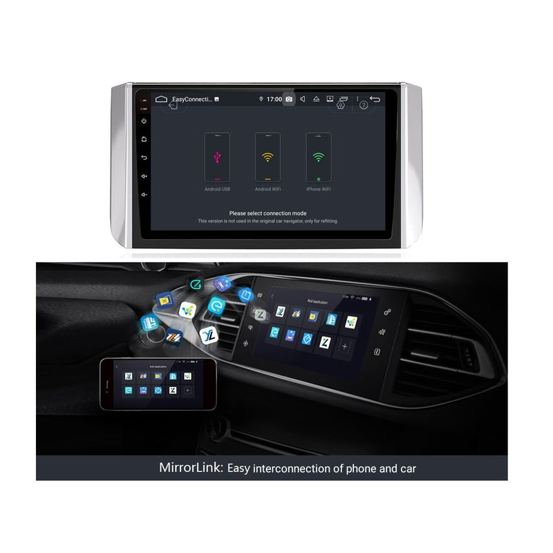 9 Inch Touchscreen Android 9.0 Auto GPS for Mitsubishi Xpander(2017-2020), 4GB RAM+32GB ROM, DSP Car Radio Stereo Bluetooth 4G WIFI - foyotech