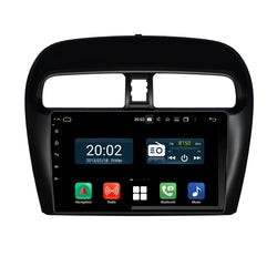 Android 10.0 Double Din 9 Inch Autoradio Headunit for Mitsubishi Attrage Mirage 2012 2013 2014 2015 2016 2017 2018 2019 2020, Octa Core 1.5GB CPU 32GB Flash 4GB DDR3 RAM, Auto Stereo GPS Navigation 3G 4G WIFI Bluetooth USB MirrorLink Steering Wheel Control. 2Din Vehicle Touch Screen Multimedia Video Player System Head Unit.