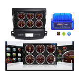 Android 10.0 2 Din 9 Inch Touchscreen Autoradio Headunit for Mitsubishi Outlander 2006 2007 2008 2009 2010 2011 2012 2013, Octa Core 1.5GB CPU 32GB Flash 4GB DDR3 RAM, Auto Radio GPS Navigation 3G 4G WIFI Bluetooth USB DSP Carplay&Auto Steering Wheel Control. Vehicle Touch Screen Multimedia Video Player System Head Unit.