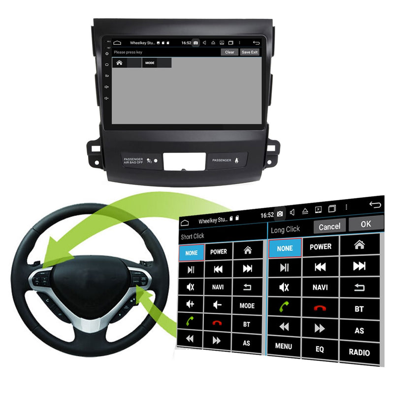 Android 10 2 Din 9 Inch Touchscreen Autoradio Headunit for Citroen C Crosser 2006 2007 2008 2009 2010 2011 2012 2013, Octa Core 1.5GB CPU 32GB Flash 4GB DDR3 RAM, Auto Radio GPS Navigation 3G 4G WIFI Bluetooth USB DSP Carplay&Auto Steering Wheel Control. Vehicle Touch Screen Multimedia Video Player System Head Unit.