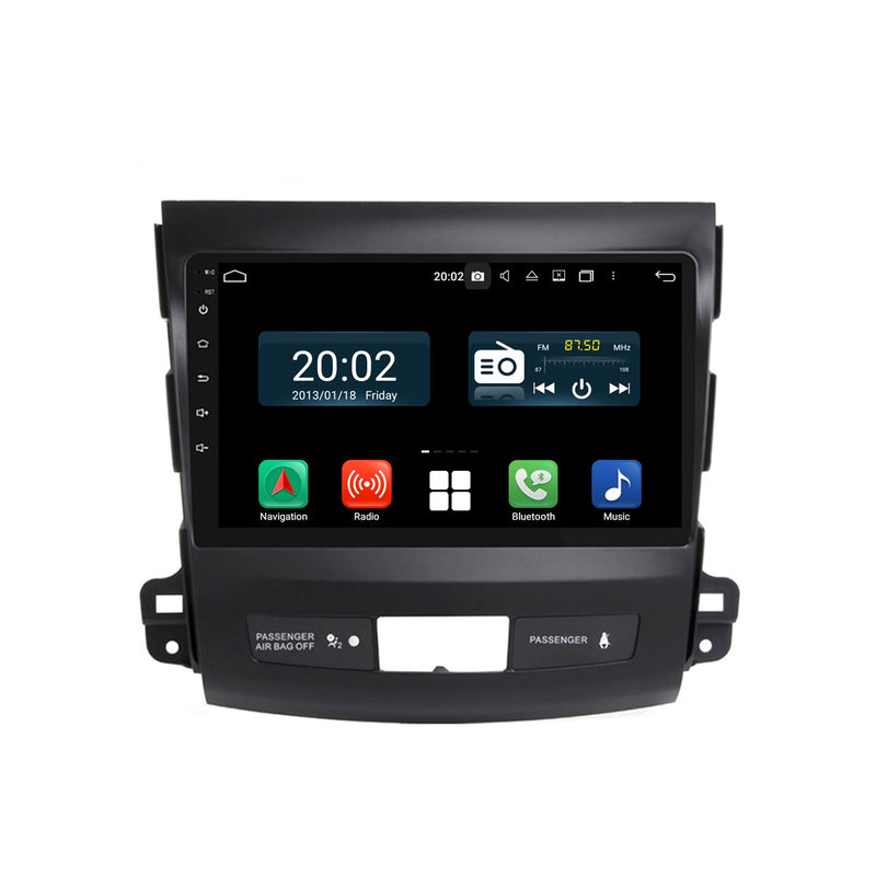 Android 10 2 Din 9 Inch Touchscreen Autoradio Headunit for Peugeot 4007 2006 2007 2008 2009 2010 2011 2012 2013, Octa Core 1.5GB CPU 32GB Flash 4GB DDR3 RAM, Auto Radio GPS Navigation 3G 4G WIFI Bluetooth USB DSP Carplay&Auto Steering Wheel Control. Vehicle Touch Screen Multimedia Video Player System Head Unit.