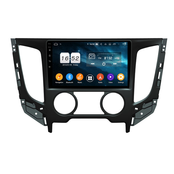9 Inch Android 9.0 Car Radio for Mitsubishi Triton L200(2015-2020), 4GB RAM+32GB ROM, Touchscreen GPS Navigation DSP Stereo Bluetooth 4G WIFI - foyotech