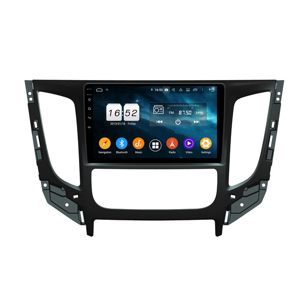 Android 9.0 Car Radio for Mitsubishi Triton L200(2015-2020), 4GB RAM+32GB ROM, 9 Inch Touchscreen GPS Navigation DSP Stereo Bluetooth 4G WIFI - foyotech