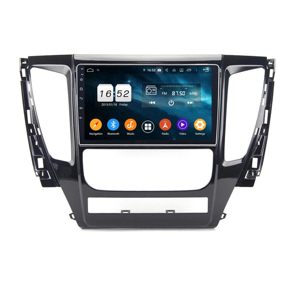 Touchscreen Android 9.0 Car Radio for Mitsubishi Pajero(2017-2020), 4GB RAM+32GB ROM, 9 Inch GPS Navigation DSP Stereo Bluetooth 4G WIFI - foyotech