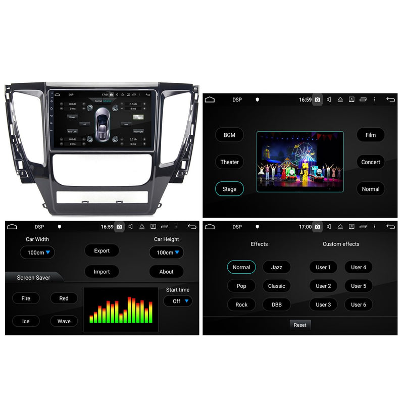 Android 10 Single Din 9 Inch Autoradio Headunit for Mitsubishi Pajero 2017 2018 2019 2020, Octa Core 1.5GB CPU 32GB Flash 4GB DDR3 RAM, Auto Stereo GPS Navigation 3G 4G WIFI Bluetooth USB DSP Carplay&Auto Steering Wheel Control. 1Din Vehicle Touch Screen Multimedia Video Player System Head Unit.