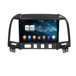 9 Inch Touchscreen Android 9.0 Car GPS Navigation for Hyundai Santa Fe(2006-2012), 4GB RAM+32GB ROM, DSP Stereo Radio Bluetooth 4G WIFI - foyotech