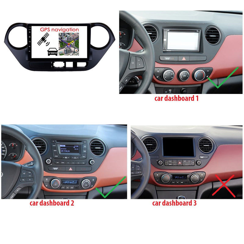 9 Inch Touchscreen Android 9.0 Car GPS Navigation for Hyundai I10(2014-2020) LHD, 4GB RAM+32GB ROM, DSP Stereo Radio Bluetooth 4G WIFI - foyotech