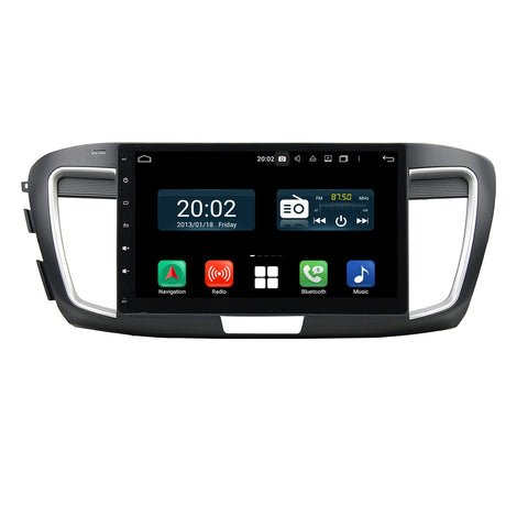 Android 10 2 Din 10.1 Inch 1024x600 Touchscreen Autoradio Headunit for Honda Accord 9 gen 2015 2016 2017, Octa Core 1.5GB CPU 32GB Flash 4GB DDR3 RAM, Auto Radio GPS Navigation 3G 4G WIFI Bluetooth USB DSP Carplay&Auto Steering Wheel Control. 2Din Vehicle Touch Screen Multimedia Video Player System Head Unit.
