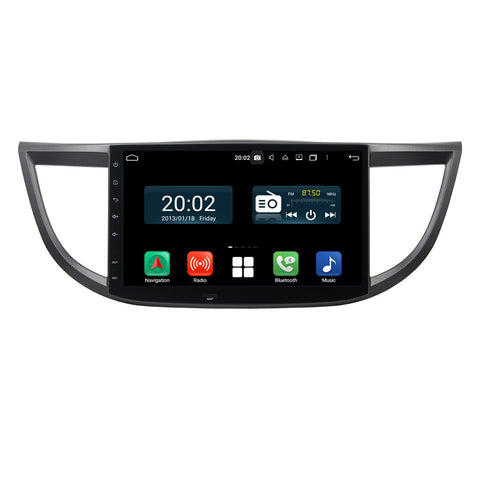 Android 10 1 Din 10.1 Inch 1024x600 Touchscreen Autoradio Headunit for Honda CRV 2012 2013 2014 2015 2016, Octa Core 1.5GB CPU 32GB Flash 4GB DDR3 RAM, Auto Radio GPS Navigation 3G 4G WIFI Bluetooth USB DSP Carplay&Auto Steering Wheel Control. 1Din Vehicle Touch Screen Multimedia Video Player System Head Unit.