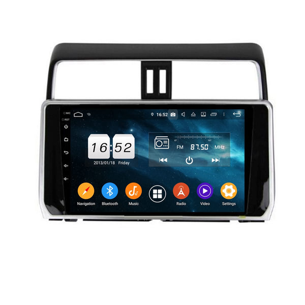 10.1 Inch Touchscreen Android 9.0 Car Radio for Toyota Land Cruiser Prado(2018-2020), GPS Navigation DSP Stereo Bluetooth 4G WIFI Head Unit, 4GB RAM+32GB ROM - foyotech