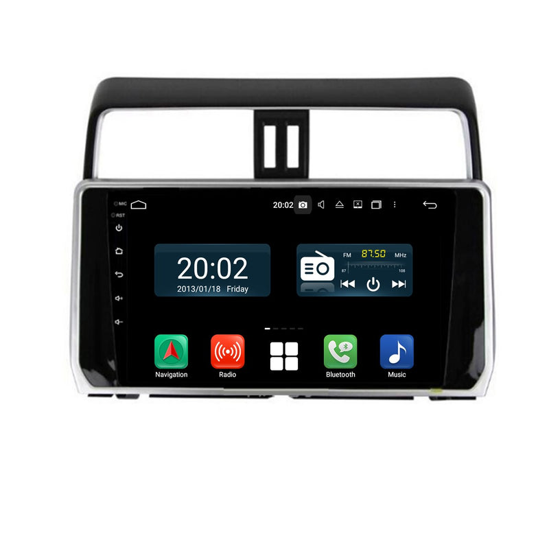Android 10 Single Din 10.1 Inch Autoradio Headunit for Toyota Land Cruiser Prado 2018 2019 2020, Octa Core 1.5GB CPU 32GB Flash 4GB DDR3 RAM, Auto Stereo GPS Navigation 3G 4G WIFI Bluetooth USB MirrorLink Steering Wheel Control. 1Din Vehicle Touch Screen Multimedia Video Player System Head Unit.