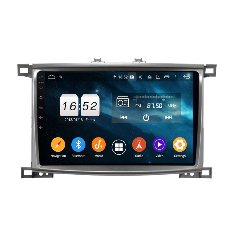 10.1 Inch Touchscreen Android 9.0 Car Radio for Toyota Land Cruiser 100(2005-2007), 4GB RAM+32GB ROM, GPS Navigation DSP Stereo Bluetooth 4G WIFI - foyotech