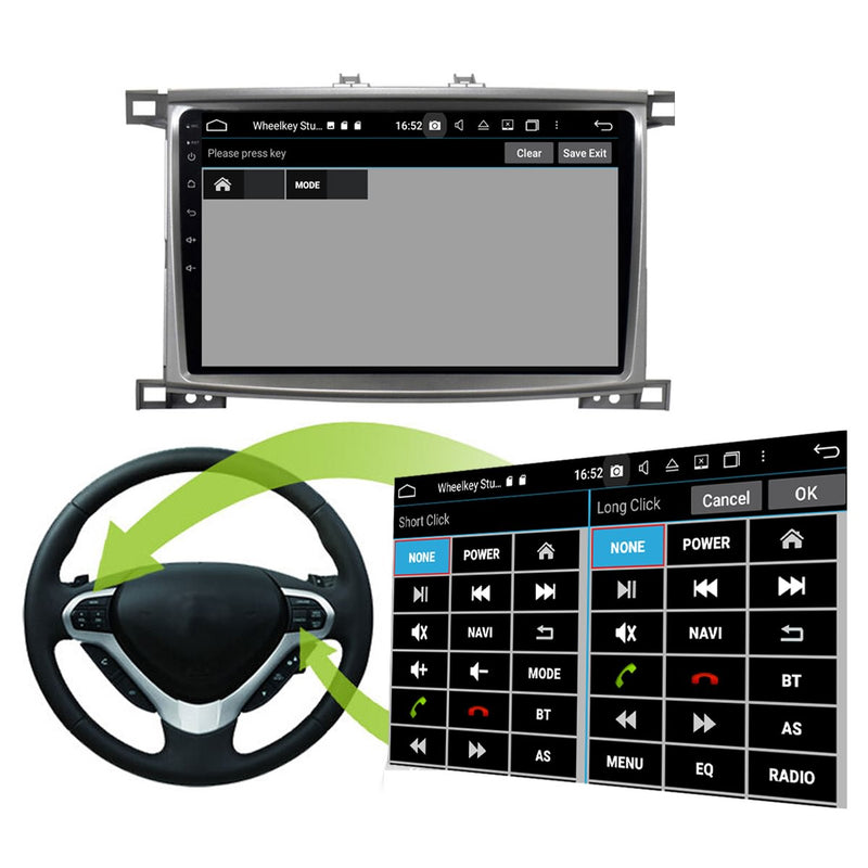 Android 10 Double Din 10.1 Inch Autoradio Headunit for Toyota Land Cruiser 100 2005 2006 2007, Octa Core 1.5GB CPU 32GB Flash 4GB DDR3 RAM, Auto Stereo GPS Navigation 3G 4G WIFI Bluetooth USB DSP Carplay&Auto Steering Wheel Control. 2Din Vehicle Touch Screen Multimedia Video Player System Head Unit.