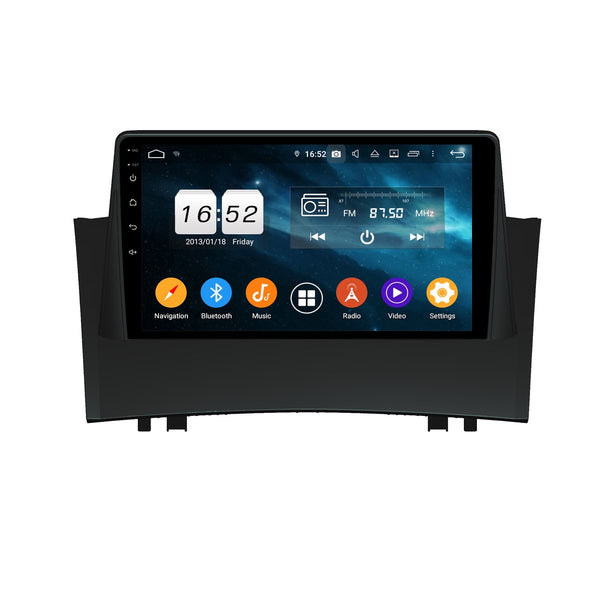 Android 9.0 Car GPS Head Unit for Renault Megane II(2004-2009), 4GB RAM+32GB ROM, 9 Inch Touchscreen Auto Stereo DSP Bluetooth 4G WIFI - foyotech