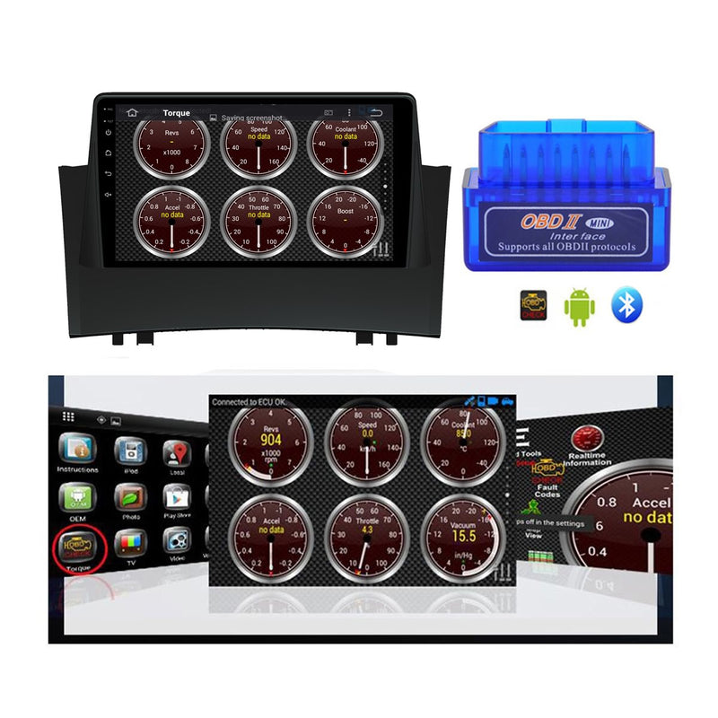Android 10 Single Din 9 Inch Autoradio Headunit for Renault Megane II 2004 2005 2006 2007 2008 2009, Octa Core 1.5GB CPU 32GB Flash 4GB DDR3 RAM, Auto Stereo GPS Navigation 3G 4G WIFI Bluetooth USB DSP Carplay&Auto Steering Wheel Control. 1Din Vehicle Touch Screen Multimedia Video Player System Head Unit.