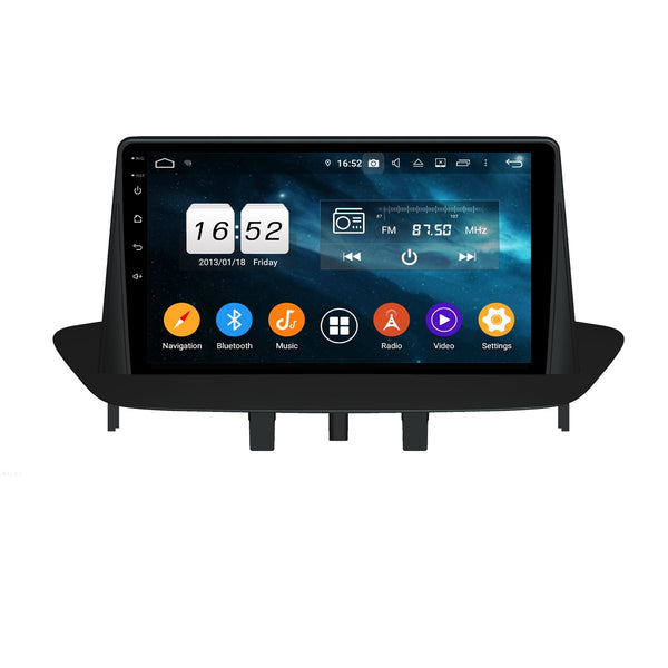 Android 9.0 Car GPS for Renault Megane III Fluence(2009-2016), 4GB RAM+32GB ROM, 9 Inch Touchscreen Auto Stereo DSP Bluetooth 4G WIFI Head Unit - foyotech