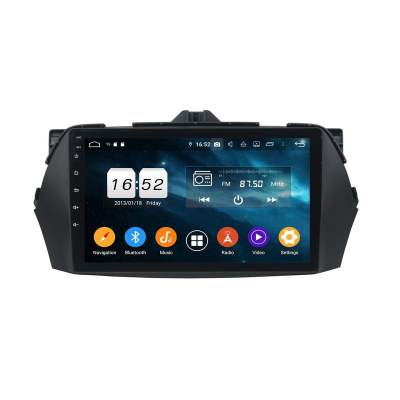 Android 9.0 Car Stereo for Suzuki Ciaz(2013-2020), 9 Inch Touchscreen DSP Auto Radio GPS Navigation Bluetooth 4G WIFI, 4GB RAM+32GB ROM - foyotech