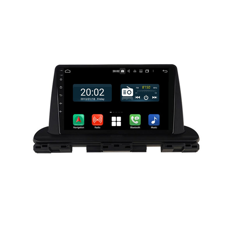 Android 10 Single Din 9 Inch 1024x600 Touchscreen Autoradio Headunit for Kia Seltos 2019 2020, Octa Core 1.5GB CPU 32GB Flash 4GB DDR3 RAM, Auto Stereo GPS Navigation 3G 4G WIFI Bluetooth USB DSP Carplay&Auto Steering Wheel Control. 1Din Vehicle Touch Screen Multimedia Video Player System Head Unit.