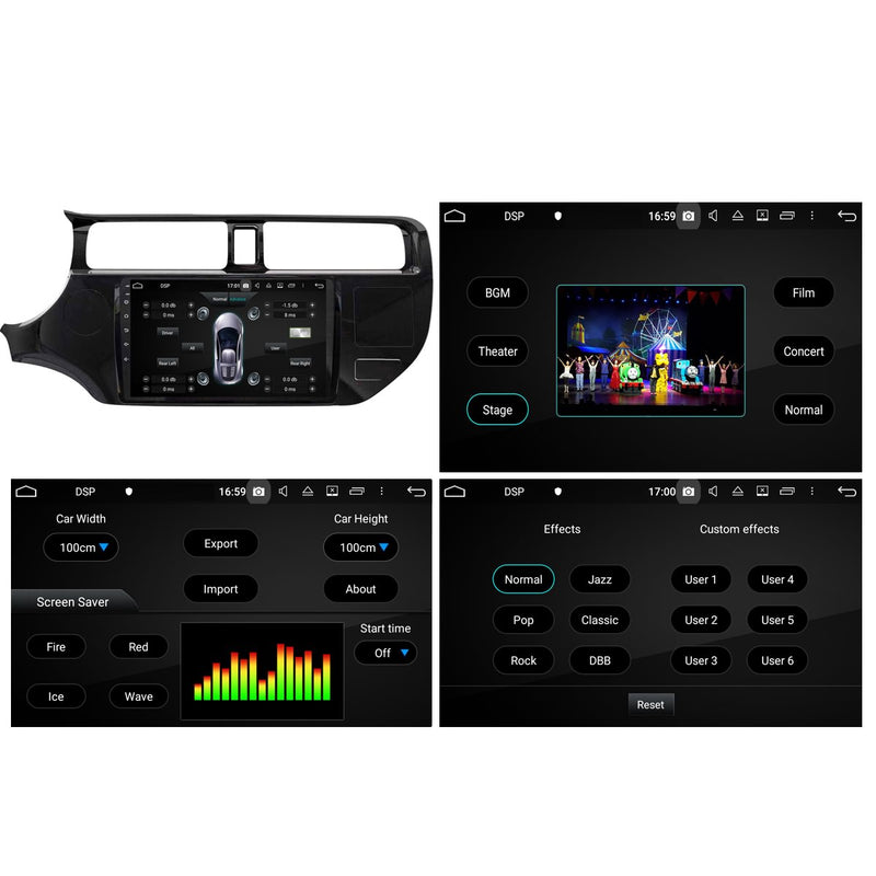 Android 10 Double Din 9 Inch 1024x600 Touchscreen Autoradio Headunit for Kia K3 Rio 2011 2012 2013 2014, Octa Core 1.5GB CPU 32GB Flash 4GB DDR3 RAM, Auto Stereo GPS Navigation 3G 4G WIFI Bluetooth USB DSP Carplay&Auto Steering Wheel Control. 2Din Vehicle Touch Screen Multimedia Video Player System Head Unit.