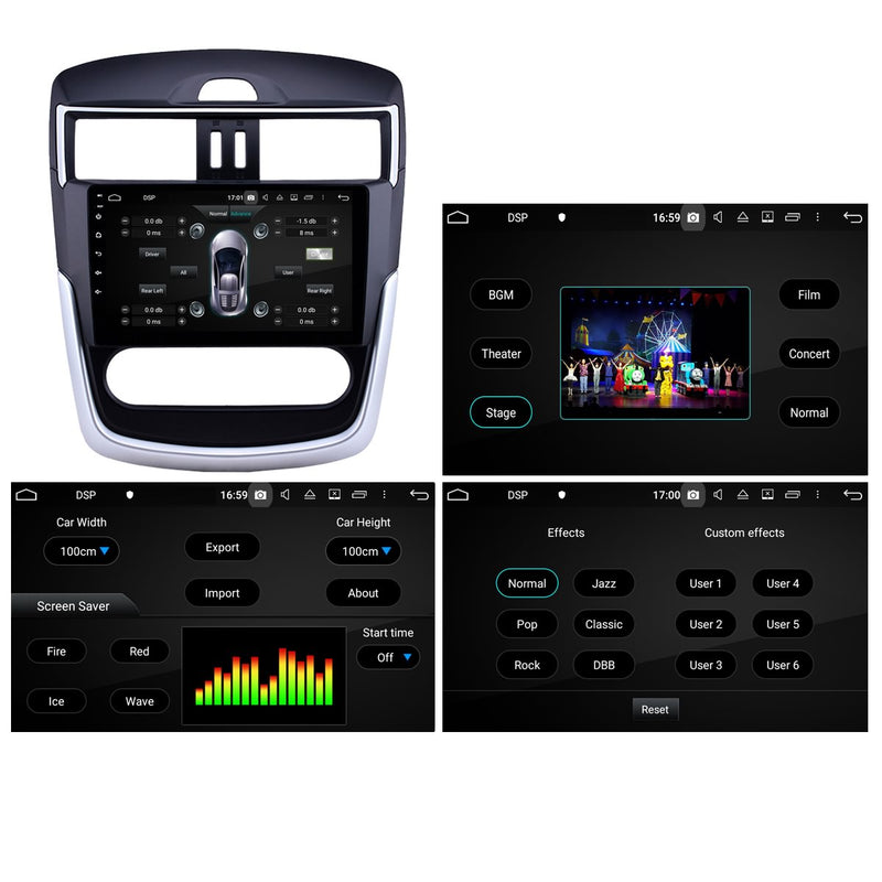Android 10 Single Din 10.1 Inch 1024x600 Touchscreen Autoradio Headunit for Nissan Tiida 2016 2017 2018 2019 2020, Octa Core 1.5GB CPU 32GB Flash 4GB DDR3 RAM, Auto Stereo GPS Navigation 3G 4G WIFI Bluetooth USB DSP Carplay&Auto Steering Wheel Control. 1Din Vehicle Touch Screen Multimedia Video Player System Head Unit.