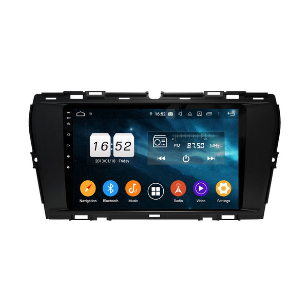 9 Inch Android 9.0 Car DSP GPS Navigation for Ssangyong Korando(2019-2020), 4GB RAM+32GB ROM, Touchscreen Stereo Radio Bluetooth 4G WIFI - foyotech