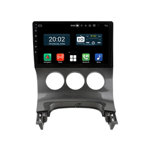 Android 10 Single Din 9 Inch Autoradio Headunit for Peugeot 3008 5008(2009 2010 2011 2012 2013 2014 2015 2016), Octa Core 1.5GB CPU 32GB Flash 4GB DDR3 RAM, Auto Stereo GPS Navigation 3G 4G WIFI Bluetooth USB DSP Carplay&Auto Steering Wheel Control. 1Din Vehicle Touch Screen Multimedia Video Player System Head Unit.