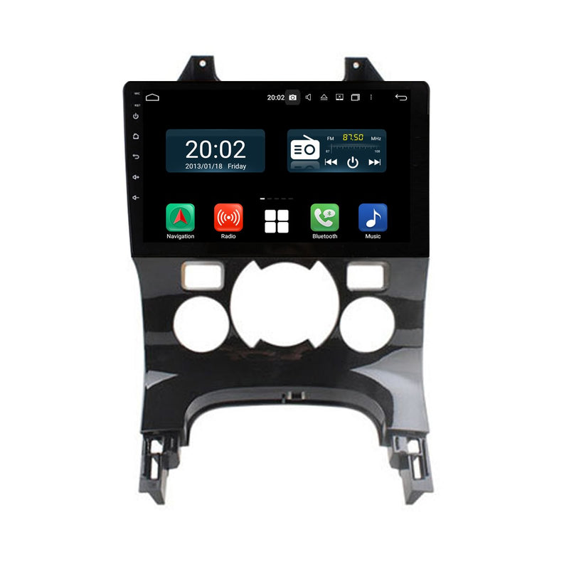 Android 10 Single Din 9 Inch Autoradio Headunit for Peugeot 3008 5008(2008 2010 2011 2012 2013 2014 2015 2016), Octa Core 1.5GB CPU 32GB Flash 4GB DDR3 RAM, Auto Stereo GPS Navigation 3G 4G WIFI Bluetooth USB DSP Carplay&Auto Steering Wheel Control. 1Din Vehicle Touch Screen Multimedia Video Player System Head Unit.