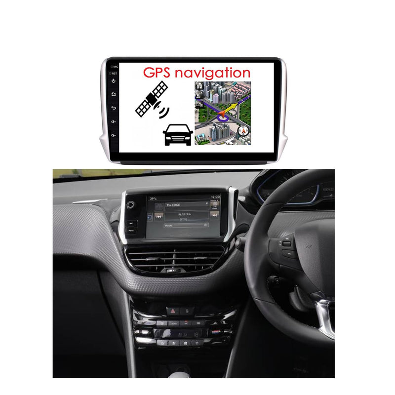Android 10 Single Din 10.1 Inch Autoradio Headunit for Peugeot 2008 2015 2016 2017 2018 2019 2020, Octa Core 1.5GB CPU 32GB Flash 4GB DDR3 RAM, Auto Stereo GPS Navigation 3G 4G WIFI Bluetooth USB MirrorLink Steering Wheel Control. 1Din Vehicle Touch Screen Multimedia Video Player System Head Unit.