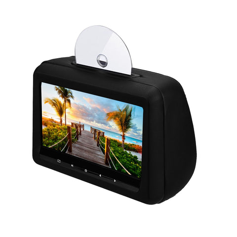 2x 10.1 inch Car Headrest DVD Player, Remote control/USB/SD/Wireless Game/HDMI input, 1024x600 HD Digital LCD screen Headrest Video Monitor - foyotech