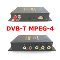 Mobile Digital TV(DVB-T MPEG4) Receiver,Single Tuner Set Top Box for Car,HD MPEG4 AVC H.264,4 Video Out and 2 Audio Out - foyotech
