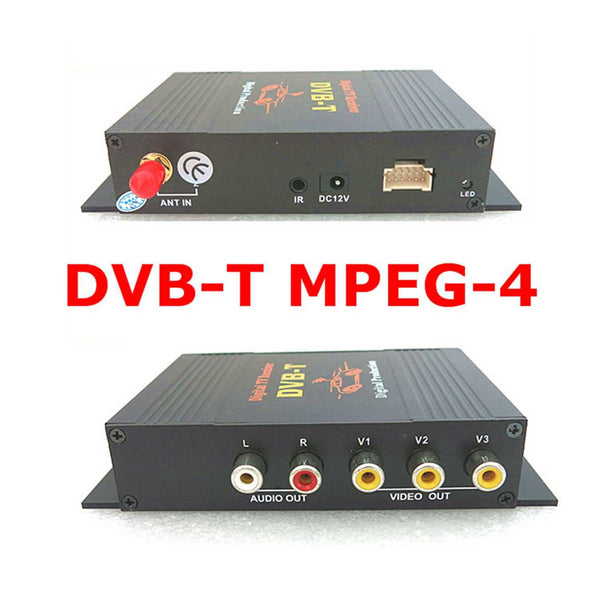 Mobile Digital TV(DVB-T MPEG4) Receiver,Single Tuner Set Top Box for Car,HD MPEG4 AVC H.264,4 Video Out and 2 Audio Out