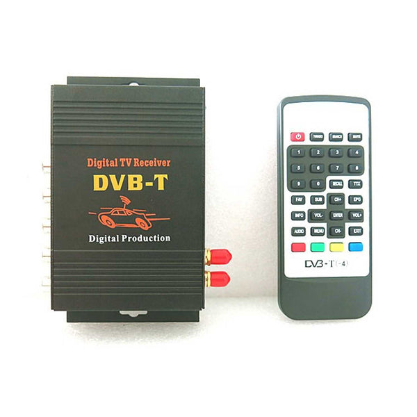 Car Digital TV(DVB-T MPEG4) Dual Tuner Receiver,4 Video Output 2 Audio Output Mobile TV Receiver