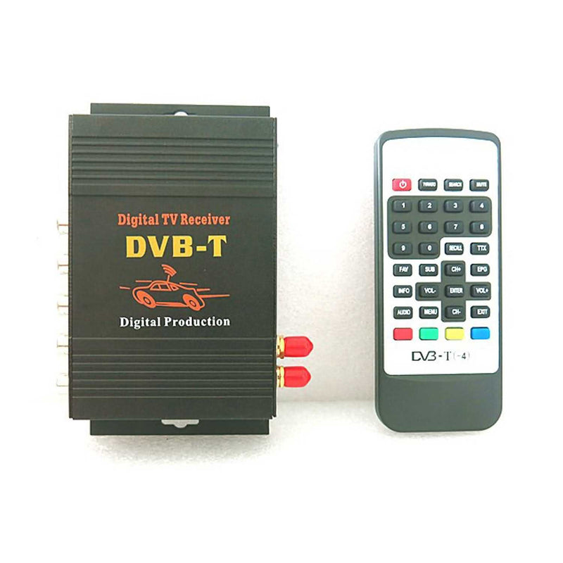 Car Digital TV(DVB-T MPEG4) Dual Tuner Receiver,4 Video Output 2 Audio Output Mobile TV Receiver - foyotech