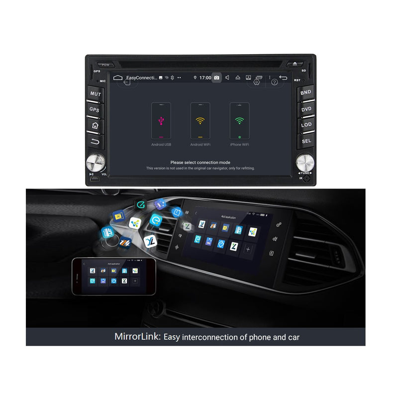 Android 9.0 OS 6.2 inch Car Radio GPS Navi Headunit for Nissan Tiida/Qashqai/Sunny/X-Trail/Paladin/Frontier/Murano/Livina, Octa Core 1.5G CPU 4G DDR3 RAM 32G Flash, Touchscreen Auto DVD Player Stereo Bluetooth 4G WIFI OBD2 MirrorLink - foyotech