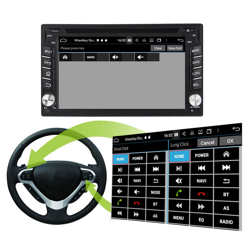 Plug and Play! 2 Din Android 10 OS 6.2 inch Capacitive Touch Screen Universal Autoradio Headunit, Built in Octa Core CPU 32G flash 4G DDR3 RAM, Supports Radio GPS Navigation 4G WIFI Bluetooth USB/SD DSP Carplay Steering Wheel Control. Optional Digital TV/Radio Receiver. Vehicle Multimedia Player System Head Unit.