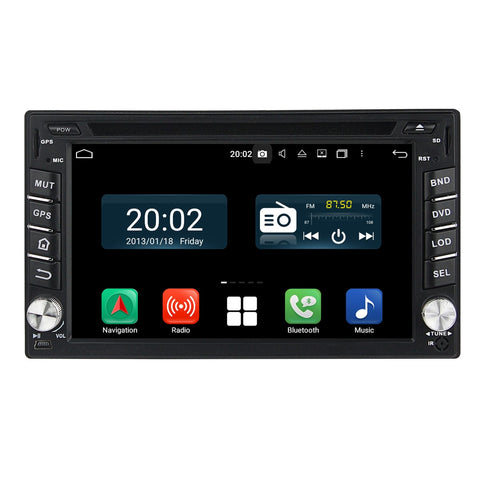 Plug and Play! 2 Din Android 10 OS 6.2 inch Capacitive Touch Screen Autoradio Headunit, Built in Octa Core CPU 32G flash 4G DDR3 RAM, Supports Radio GPS Navigation 3G/4G WIFI Bluetooth USB/SD DSP Carplay Steering Wheel Control. Optional Digital TV/Radio Receiver. Vehicle Multimedia Player System Head Unit.