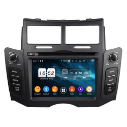 6.2 inch Touchscreen Android 9.0 OS Car GPS Radio Headunit for Toyota Yaris(2005-2011), Octa Core 1.5G CPU 4G DDR3 RAM 32G Flash, Auto DVD Player Bluetooth 4G WIFI OBDII MirrorLink - foyotech