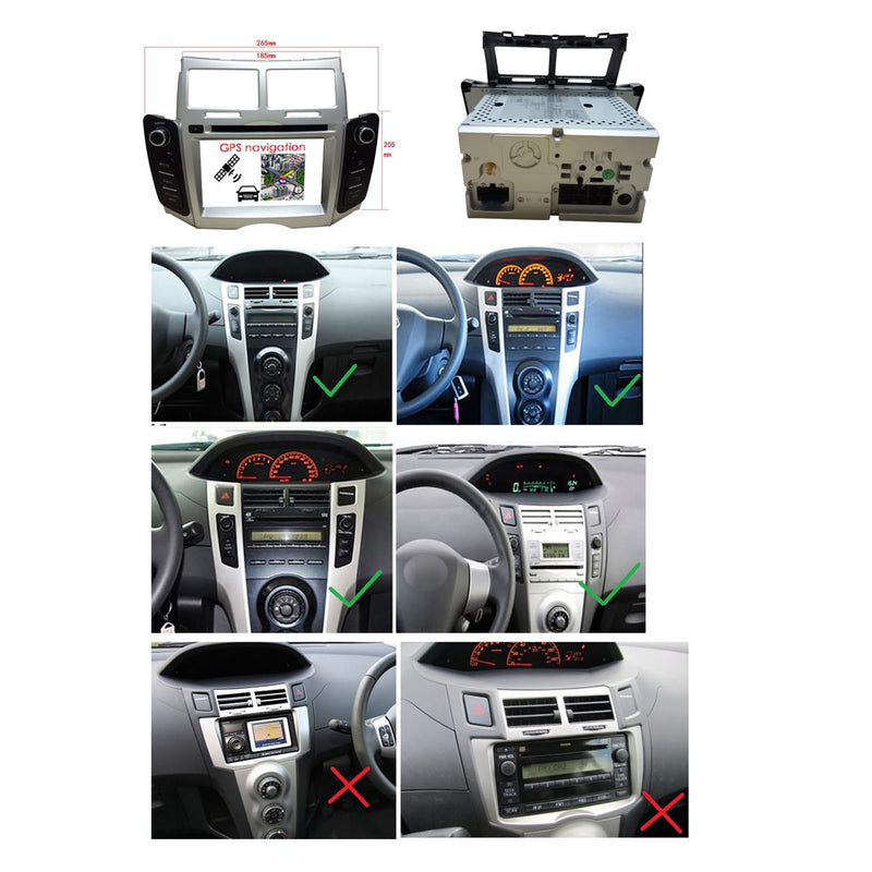 (Silver) Touchscreen Android 10 Autoradio Stereo for Toyota Yaris 2005 2006 2007 2008 2009 2010 2011, Octa Core 1.5G CPU 32G Flash 4G DDR3 RAM. 2 Din Car DVD Player GPS Navigation 3G 4G WIFI Bluetooth USB/SD DSP Carplay Steering Wheel Control OBD2. Plug and Play cable Double Din Vehicle Multimedia System Head Unit.