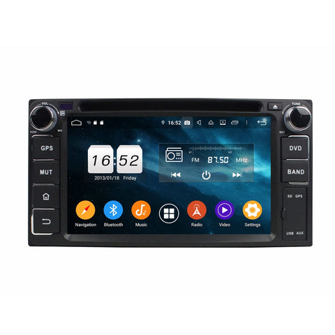 6.2'' Android 9.0 OS Car GPS Radio Headunit for Toyota RAV4/Corolla/Hilux/Land Cruiser/Terios/Fortuner/Prado, Octa Core 1.5G CPU 4G DDR3 RAM 32G Flash, Auto DVD Player Bluetooth 4G WIFI OBDII MirrorLink - foyotech