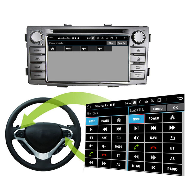 6.2 inch 800x480 Touchscreen Android 10 OS Autoradio Stereo for Toyota Hilux 2012 2013 2014 2015. Octa Core 1.5G CPU 32G Flash 4G DDR3 RAM. 1 Din Car Radio DVD Player GPS Navigation 3G 4G WIFI Bluetooth USB/SD DSP Carplay Steering Wheel Control OBD2. Plug and Play cable Single Din Vehicle Multimedia System Head Unit.