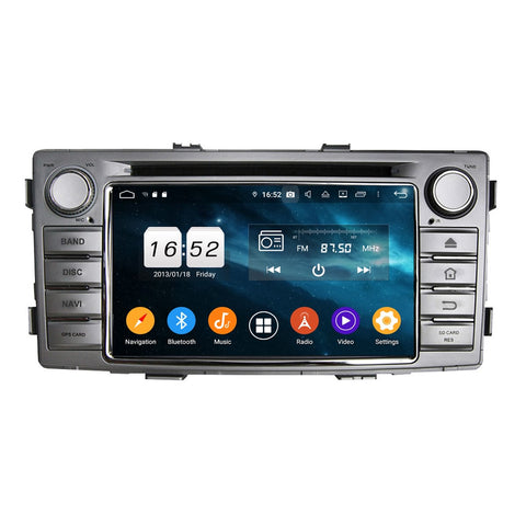 6.2 inch Touchscreen Android 9.0 OS Car Stereo GPS Navigation for Toyota Hilux(2012-2015), Octa Core 1.5G CPU 4G DDR3 RAM 32G Flash, Auto Radio DVD Player Bluetooth 4G WIFI OBDII MirrorLink Headunit - foyotech