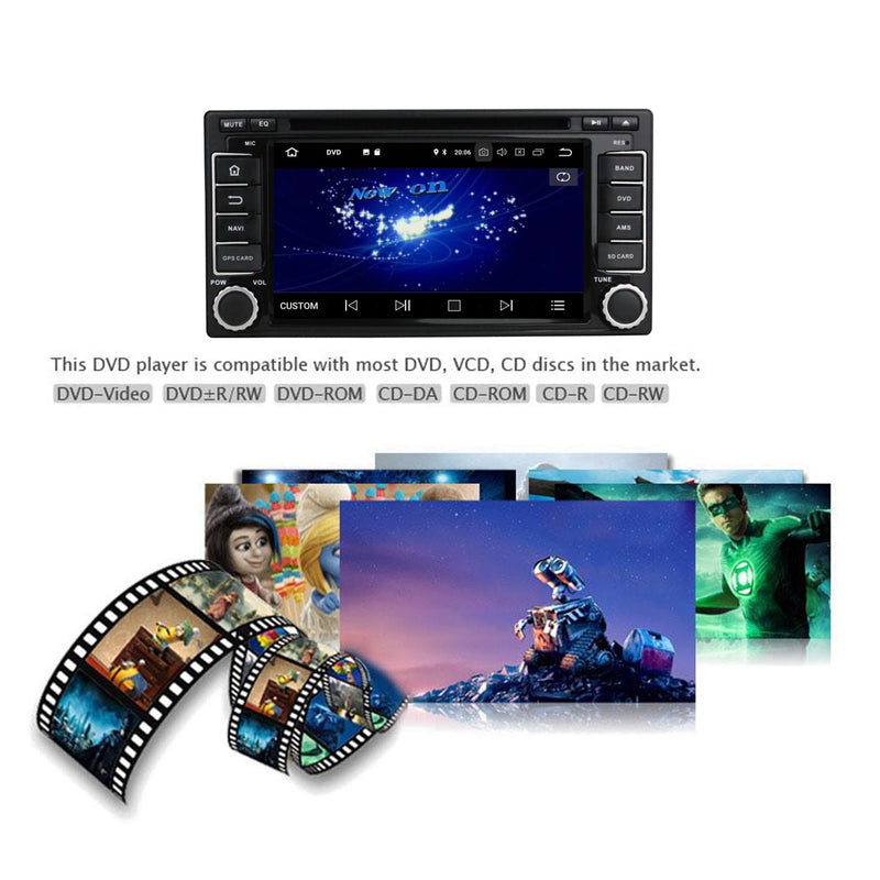 6.2 inch Android 9.0 OS Car Radio GPS Navi Headunit for Subaru Forester/Impreza(2008-2011), 8 Core 1.5G CPU 4G DDR3 RAM 32G Flash, Touchscreen Auto DVD Player Stereo Bluetooth 4G WIFI OBD2 MirrorLink - foyotech