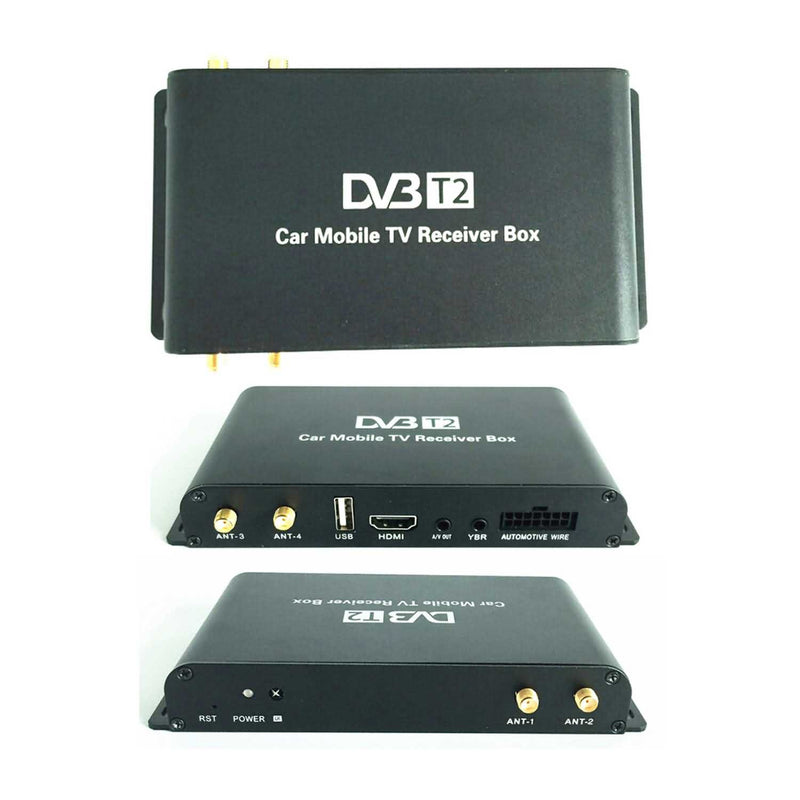 4 Tuner DVB-T2 Mobile TV Receiver,HDMI Output Digital TV Set Top Box,Max to 180KM/H - foyotech