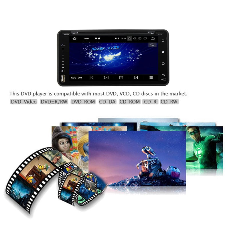 6.95 inch Android 9.0 OS Car GPS Radio Headunit for Toyota RAV4/Corolla/Hilux/Land Cruiser/Terios/Fortuner/Prado, Octa Core 1.5G CPU 4G DDR3 RAM 32G Flash, Auto DVD Player Bluetooth 4G WIFI OBDII MirrorLink - foyotech