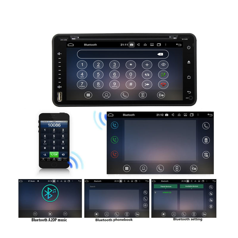6.95'' Touchscreen Android 10 OS Autoradio Stereo for Toyota RAV4/Corolla/Hilux/Land Cruiser/Terios/Fortuner/Prado, Octa Core 1.5G CPU 32G Flash 4G DDR3 RAM. 2 Din Car DVD Player GPS Navigation 3G 4G WIFI Bluetooth USB/SD DSP Carplay Steering Wheel Control OBD2. Double Din Vehicle Multimedia System Head Unit.