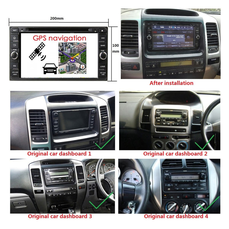 Android 9.0 OS 6.95'' Car GPS Radio Headunit for Toyota RAV4/Corolla/Hilux/Land Cruiser/Terios/Fortuner/Prado, Octa Core 1.5G CPU 4G DDR3 RAM 32G Flash, Auto DVD Player Bluetooth 4G WIFI OBDII MirrorLink - foyotech